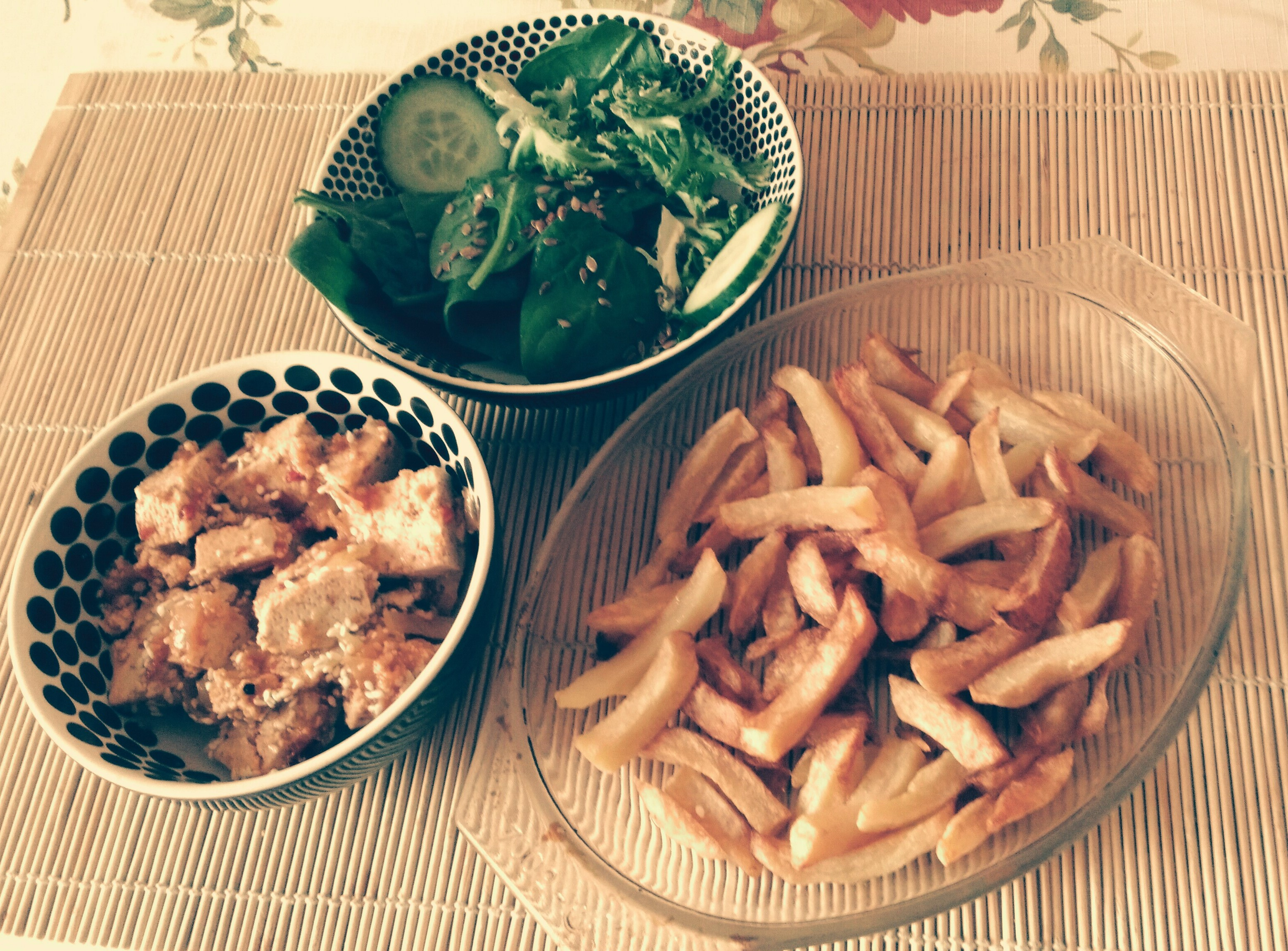 spinach n tofu